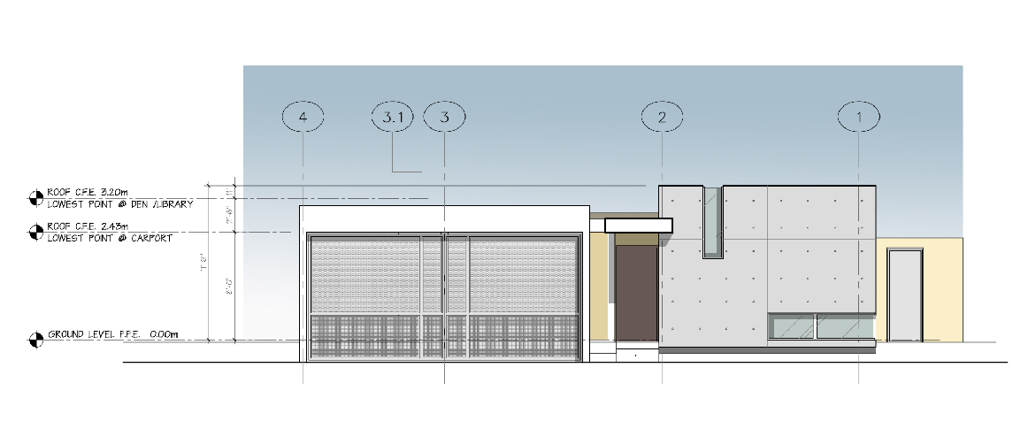 Joe Vazquez Residence main facade elevation