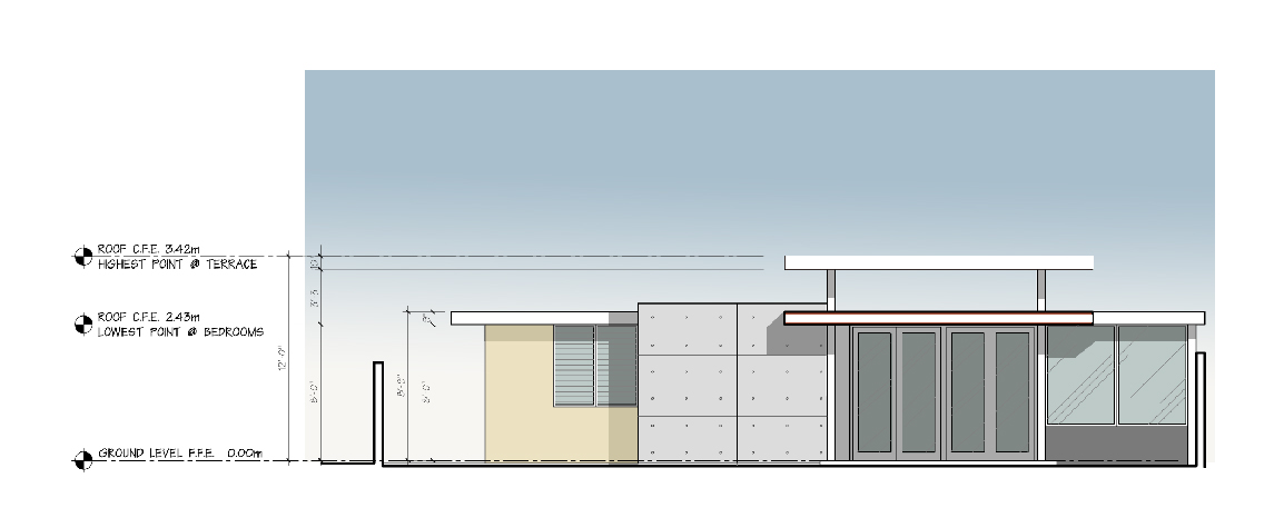 Joe Vazquez Residence proposed patio facade
